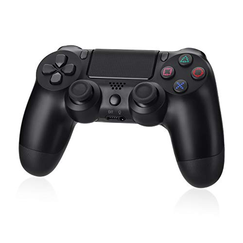 Powerextra Wireless Controller für PS4 mit Audiofunktion, Touchpanel-Spielbrett, Anti-Rutsch Griff, Bluetooth Controller Gamepad für PS4&PS4 Slim&PS4 Pro& PC