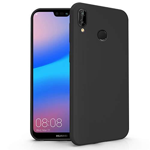 N NEWTOP Cover Compatibile per Huawei P20 Lite, Custodia TPU Soft Gel Silicone Ultra Slim Sottile Flessibile Case Posteriore Protettiva (Nero)