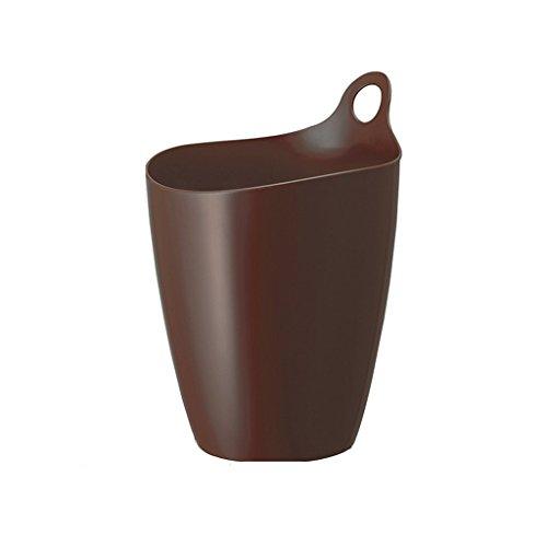Poubelle LCSHAN Le Seau de Stockage de débris de Seau de Stockage en Plastique de Stockage de Seau Peut accrocher la (Color : Brown)