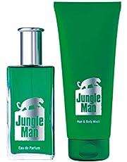 LR Jungle Man doftset 2 x Eau de Parfum 1 x hår & kropp schampo