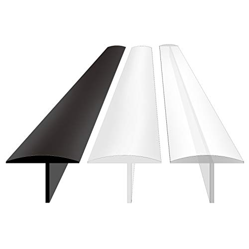 Silicone Stove Counter Gap Cover, Extra Long 30 Inch (for 2-25mm Gap) Kitchen Range Gap Filler, 4/5 Deep Insert Tab, Heavy 10 oz, One Size Fit 21&25 (Set of 2, Black)