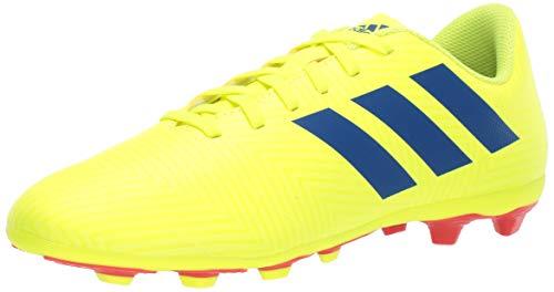 adidas Unisex-Kid's Nemeziz 18.4 FxG J, Solar Yellow/Football Blue/Active red, 5 M US Big Kid