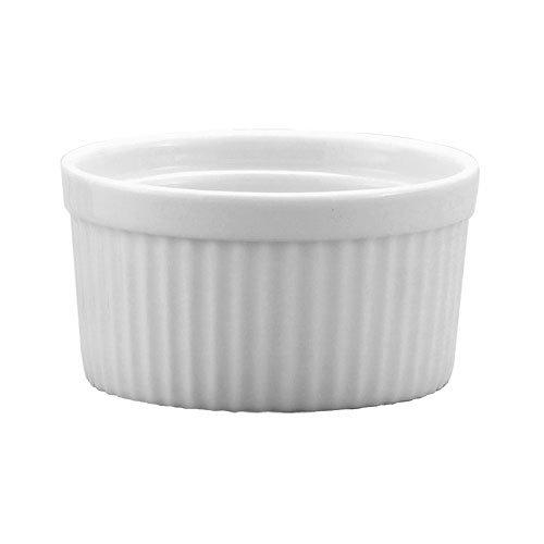 Harold Import Co. 98008 10 oz White Porcelain Deep Souffle Dish
