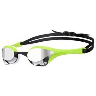 Gafas de buceo Arena Cobra con lentes de espejo (plateadas, verdes y blancas)