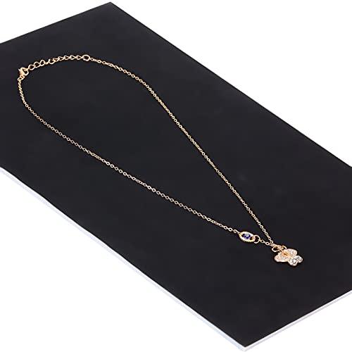 Shanrya Collar de Ojo Azul, Collar de Diamantes de imitación Collares Colgante para el día de la Madre para Navidad para el día de San Valentín
