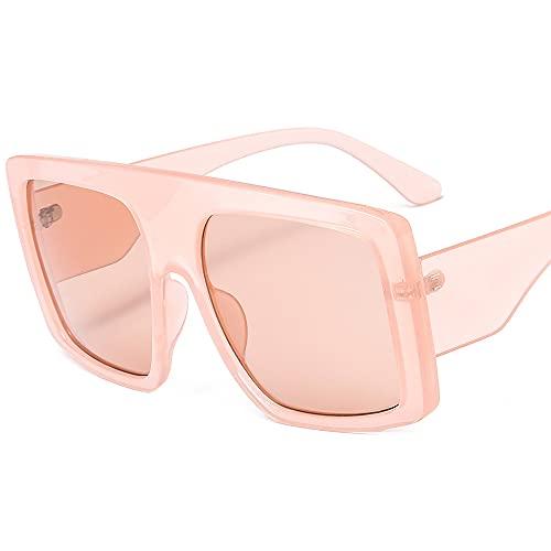 TTWLJJ Gafas de sol para mujer y hombre, diseño vintage, cuadrado, protección UV, gafas de ciclismo, para correr, béisbol, pesca, esquí, golf, rosa