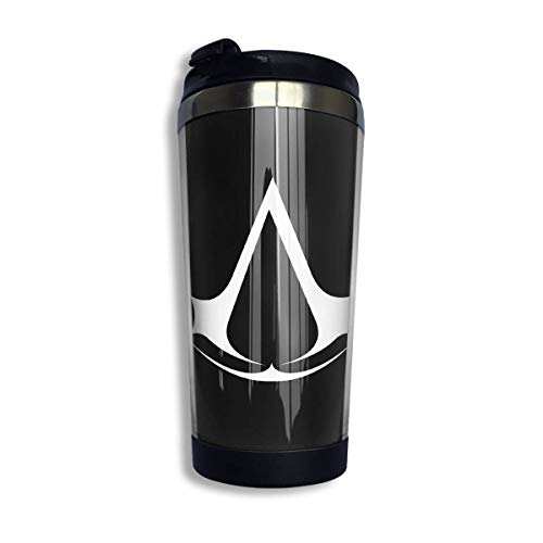 Trushop Kaffeebecher Kaffeetasse Assassin Creed Video Game Coffee Cups Stainless Steel Water Bottle Cup Travel Mug Coffee Tumbler with Spill Proof Lid Graphic Travel Mug 400ml/14 oz