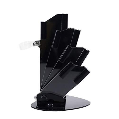BESTonZON Acryl universal messerblock Aufbewahrung und Ordnung für Messer für Home Küche Restaurant (schwarz)