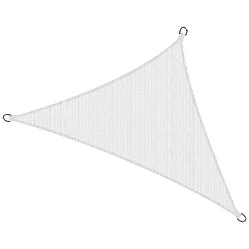 Sol Royal Tenda a Vela Traspirante 700x500x500 cm SolVision HS9 - Protezione Triangolare Parasole e Anti UV - Bianco