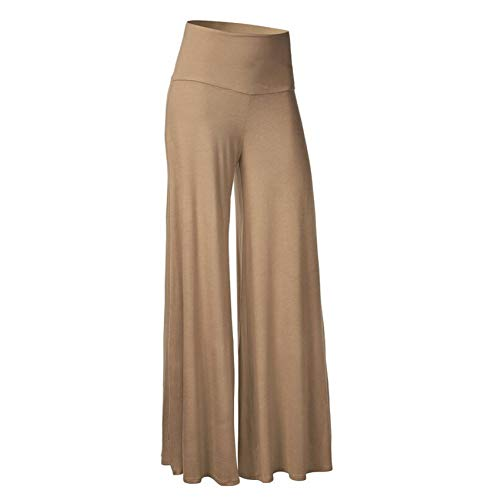Women's Clothing Women's Solid Color High Waisted Wide Leg Pants Casual Plus Size Trouser Pants Khaki