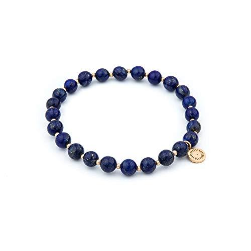 Honey Minx Women's Lapis Lazuli Spaced Bracelet Gold