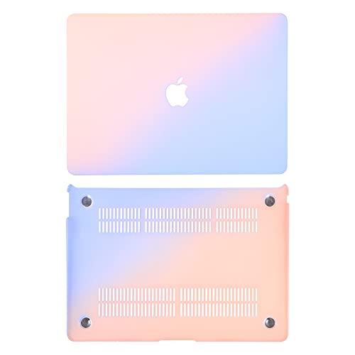 SOLUSTRE Capa para laptop compatível com MacBook Air 13 rosa azul gradiente cor notebook computador capa rígida decoração