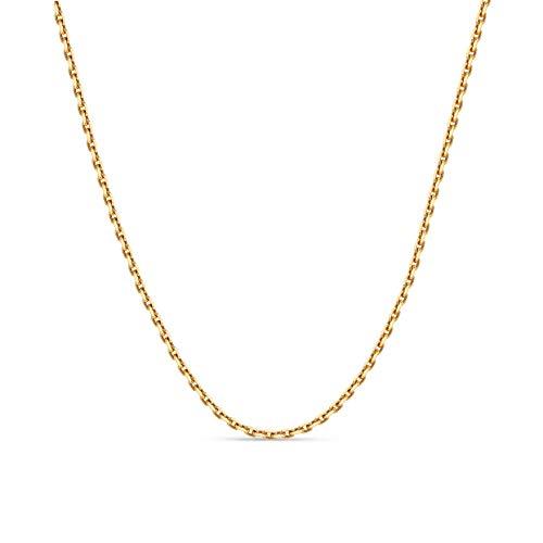 Miore Kette Damen Anker Halskette Gelbgold 9 Karat / 375 Gold, Länge 45 cm Schmuck