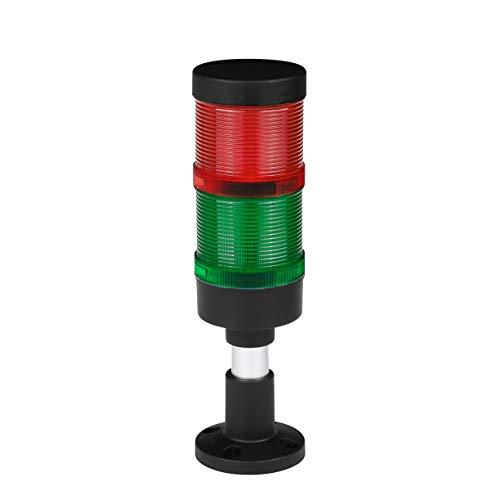 Columna de señal industrial FL70 LED RG + Buzzer 12 V 24 V 230 V Torre lámpara de advertencia Diámetro: 70 mm Clase de protección: IP65 Garantía 2 años (Voltaje: 24 V)