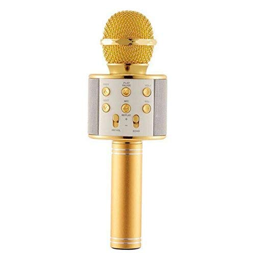 Stybits Heavy Microphone 3-in-1 Portable Handheld Karaoke Mic|Speaker for Android|iPhone|PC or All Smartphone|Handheld Wireless Microphone Mic| GOLD/ROSE GOLD