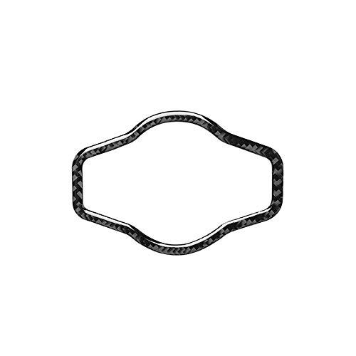 Tonyzhou Co.,ltd Pegatinas de Ajuste de Cubierta Protectora de decoración de botón de Interruptor de Faro Interior de Fibra de Carbono, para Audi A4L 2009-2018