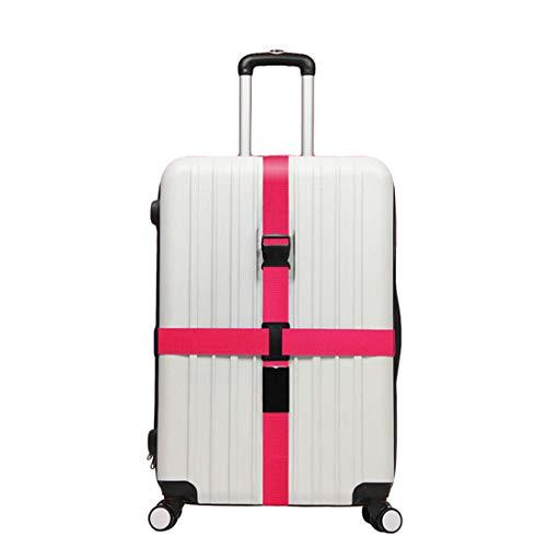 WanYangg Koffergurt, Kofferband Gepäckgurt TSA Gepäckgurt Koffer rutschfest Kreuz Reise Gurt Luggage Gepäck Strap Mit Zahlenschloss Rose Rot 200 * 5+230 * 5cm
