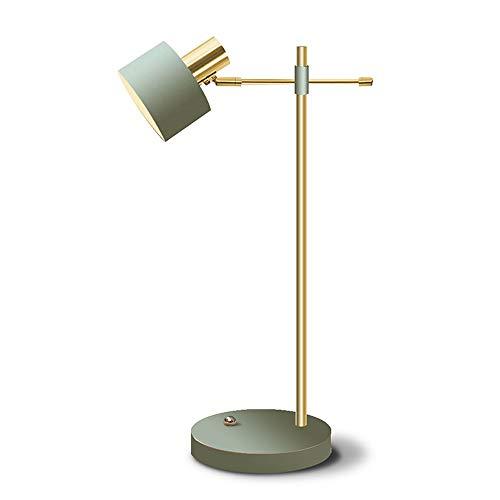 Yjdr Lámpara de lectura de 60,96 cm, lámpara de escritorio, lámpara de mesa, minimalista, creativa, macarrones de lujo, interfaz E27, fuente de luz