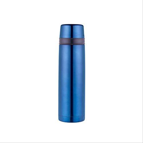 Thermische mok GJDBBLY thermosfles met klepstop voor koffie thee sap melk water termos 500ml blauw