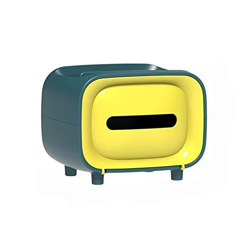 Dispensador de Toallas Caja de dispensador de Tejido Lindo con función de Almacenamiento Caja de Tejido Facial de Papel plástico para Cocina, Sala de Estar, Dormitorio y Oficina Caja de pañuelos