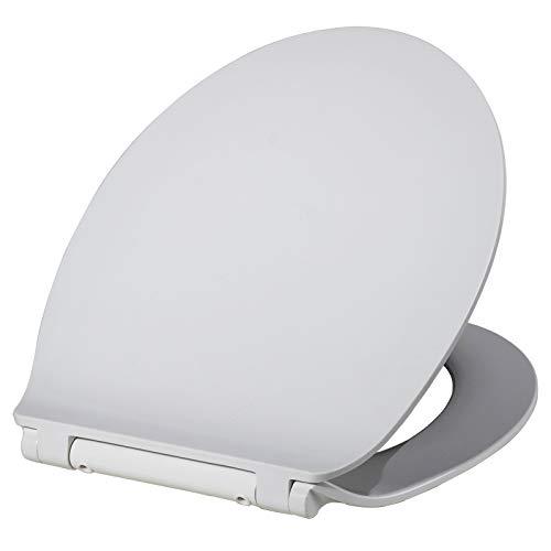 WOLTU WS2444 Toilettensitz Klodeckel mit Absenkautomatik Wc Sitz aus Extra Duroplast Fast Fix zur Schnellreinigung Edelstahl Scharnier