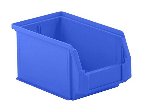 SSI Schäfer Sichtlagerkasten Regalkasten Lagerkasten, Blau, Serie LF 221, PP-Kunststoff, Inhalt 2,7 Liter