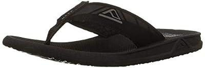 Reef Mens Phantom Sandals, Black , 10 M US