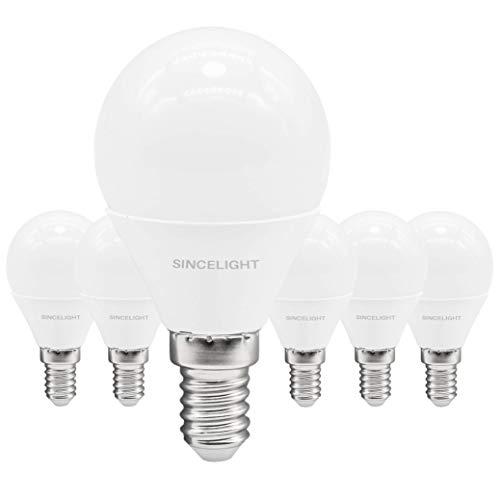 E14 LED P45 Golfball-Leuchtmittel, mattiert, 2 Watt, Warmweiß, 2700 K, 150 Lumen, entspricht 15 W, nicht dimmbar, SES kleine Edison-Schraube, 6 Stück