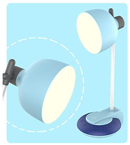 JKMQA Lámparas de Escritorio LED,Lluminación Nocturna,Lámparas de Mesa 3 Modos de Color,Recargable USB con Control Táctil,Cuidado de Ojos,Flexo LED para Leer,Azul,Rosa,Amarillo.