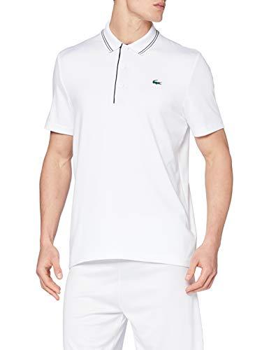 Lacoste Sport DH6843 Camisa de Polo, Blanc/Marine-Marine, 3XL para Hombre