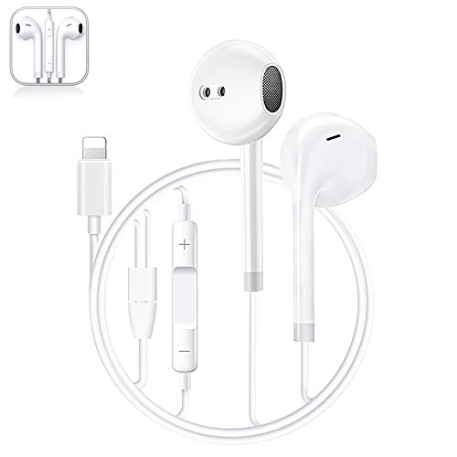AimKe Auricolari per iPhone Auricolari in-Ear Cuffie con filo cablato Forniscono controllo del volume e del microfono compatibile con iPhone 11/11Pro/Max/XS/Max/XR/X/8/Plus/7