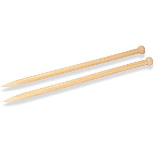 JubileeYarn Jumbo Large Wooden Single Point Knitting Needles - 15mm - One Pair