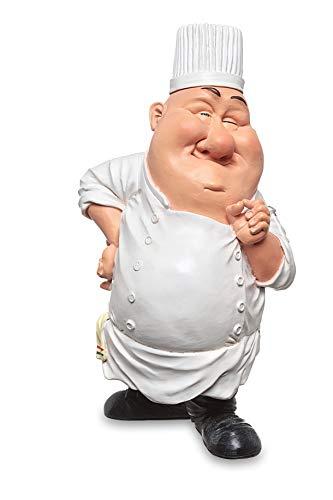 Les Alpes Orig. Sammlerfigur Koch, 20cm - liebevoll handbemalt auf Kunstharz, viele Details - Figur Statue Kollektion Funny World Berufe Küche Restaurant
