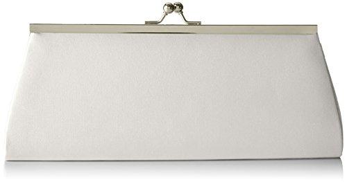Berydale Damen Satin Handtasche, Clutch Schultertasche mit Zusatzkette und Metallbügel mit...