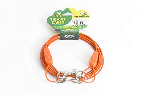 IntelliLeash Products Tie Out Cable for Dogs (10 lb/12')