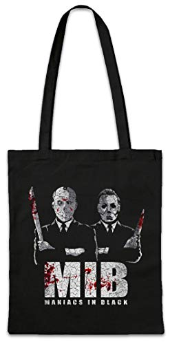 Urban Backwoods Maniacs In Black Boodschappentas Schoudertas Shopping Bag