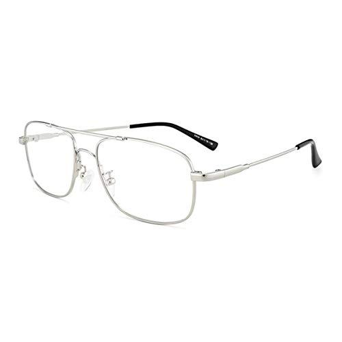 LGQ Gafas de Lectura para Hombres, Gafas de Sol fotocromáticas Inteligentes para Exteriores, Lentes de Resina HD, dioptrías de aleación de Marco Comercial +1,00 a +3,00,Plata,+2.50