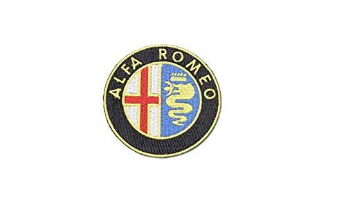 Gemelolandia Aufnäher zum Aufbügeln, Alfa Romeo 6 cm, sehr Haftend, zum Dekorieren Ihrer Kleidung | Originelle Geschenke | Aufnäher, Manschettenknöpfe, Schlüsselanhänger und Mehr
