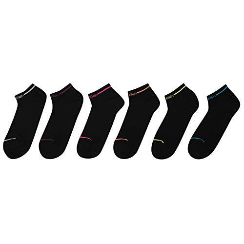 Calvin Klein Mujer Calcetines Deportivos Paquete De 6 Negro 4-8(37-41)