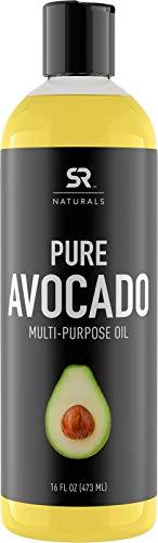 Huile d'avocat pure pour cheveux, peau, aromathérapie, massage et plus ~ 100 % naturelle et sans OGM (473 g)