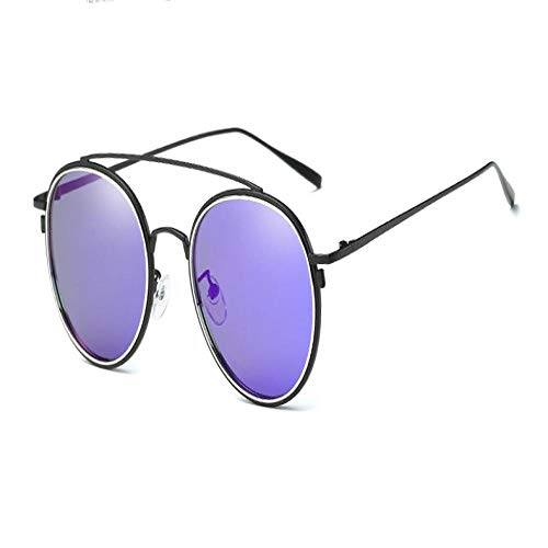 FRGTHYJ Gafas de Sol Gafas de Sol Redondas Antiguas para...
