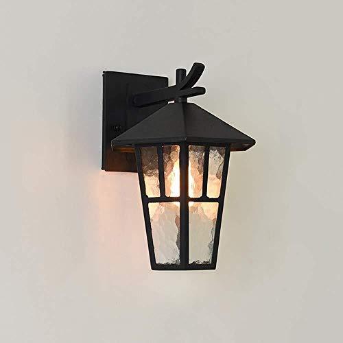 Lampade wandlamp wandlamp wandlamp wandlamp vintage tuinlamp gemaakt van roestvrij staal licht zwart Ip44