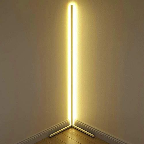 Lámpara de Pie con Luz LED Amarilla Cálida,Base de Interruptor de Pie...