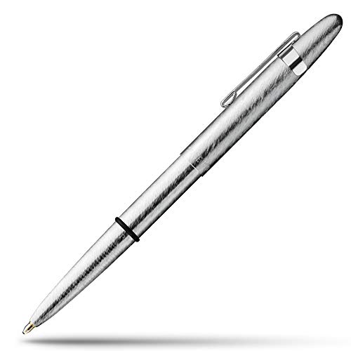 Fisher Space Pen Bullet Pen - 400 Series - Brushed Chrome w/ Clip - Gift Boxed