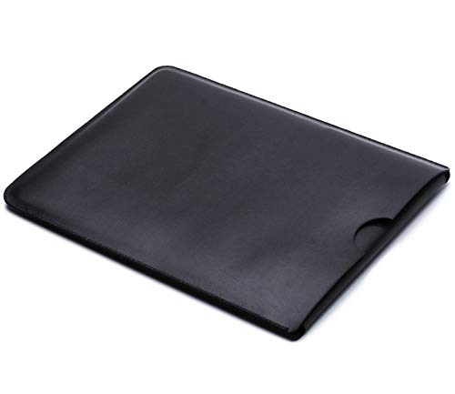 For Dell XPS 15 Microfiber Leather Laptop Sleeve Case Laptop Bag Slim Pouch Cover (Black)