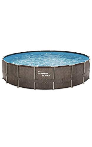 Above Ground Pool Set with Filter Pump & Ladder - 18 ft. x 48 in.
