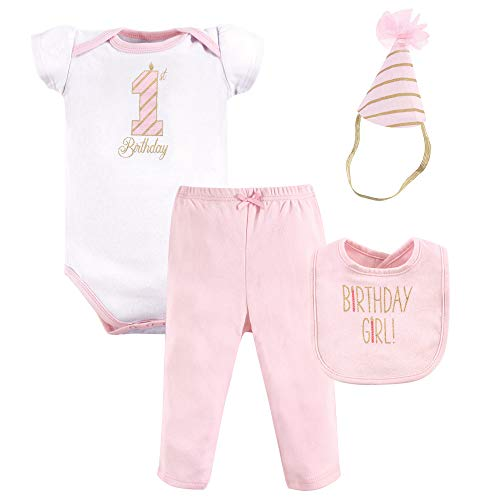 Hudson Baby Unisex Baby Boxed Giftset, Birthday girl, 12-18 Months