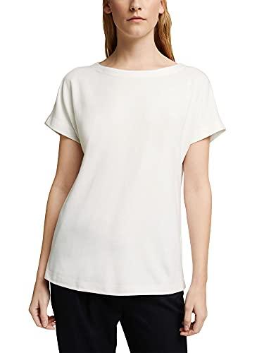 ESPRIT Collection 120eo1k304 Camiseta, 110/blanco Roto, S para Mujer