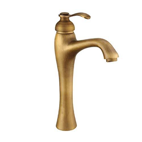 BH-JJSMGS,Grifo antiguo del lavabo del cuarto de baño.Latón antiguo que aumenta la palanca del lavabo sola palanca sobre el lavabo del contador lavabo de agua fría y caliente