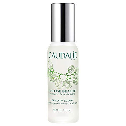 Caudalie Beauty Elixir Face Mist: Toner That Tightens Pores + Reduces Dullness + Sets Makeup - Travel Size 1 Ounce